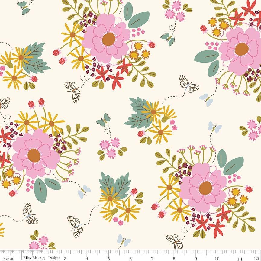 Wild Bouquet Main Cream C7470-CREAM