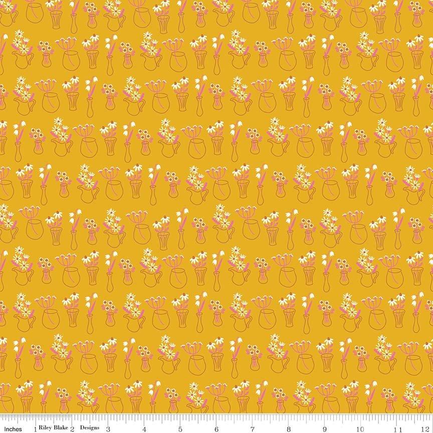 Wild Bouquet Vases Mustard C7472-MUSTARD
