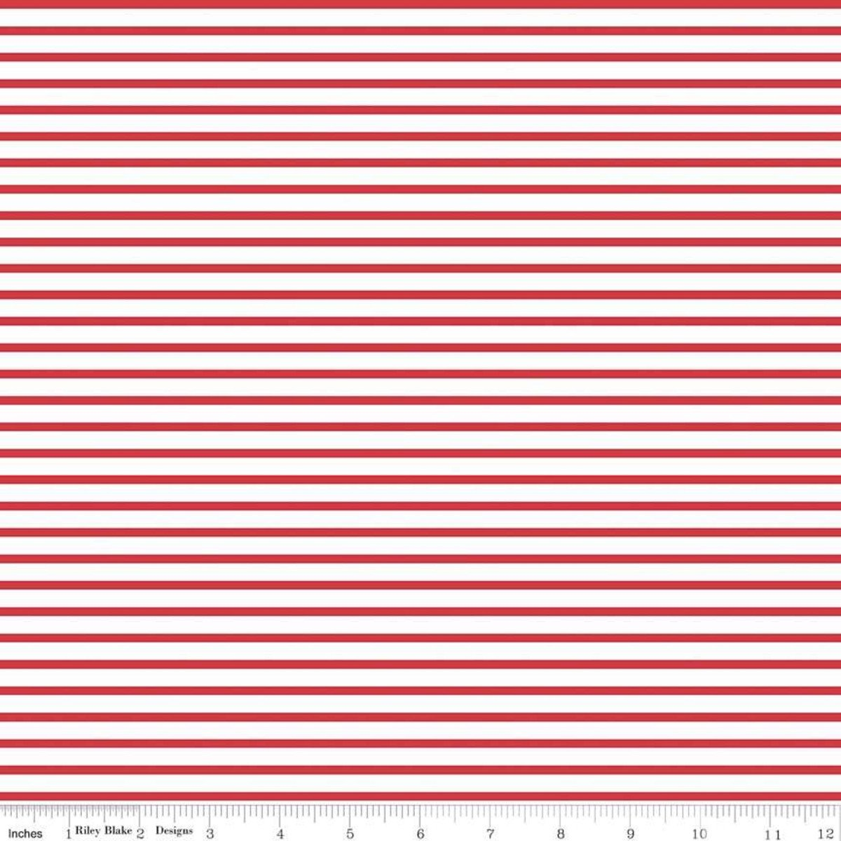 Fox Farm Stripes Red C8266-RED