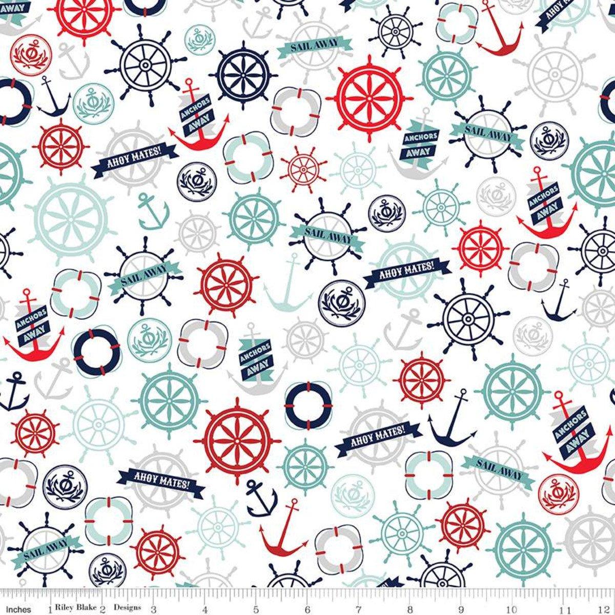Deep Blue Sea Anchors White