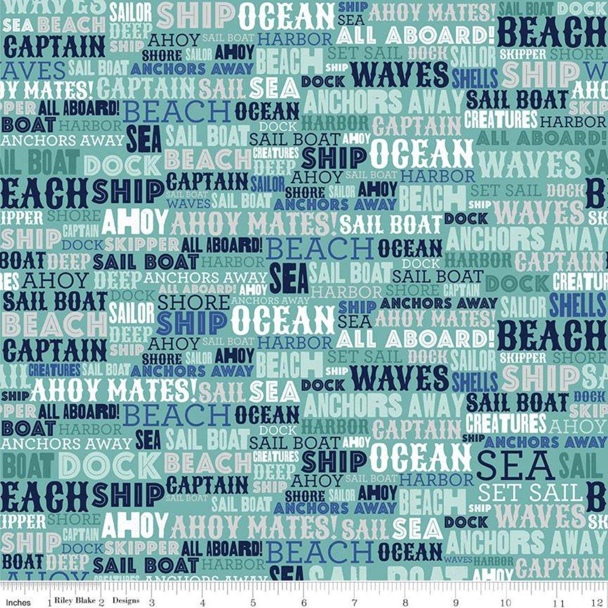 Deep Blue Sea Text Teal