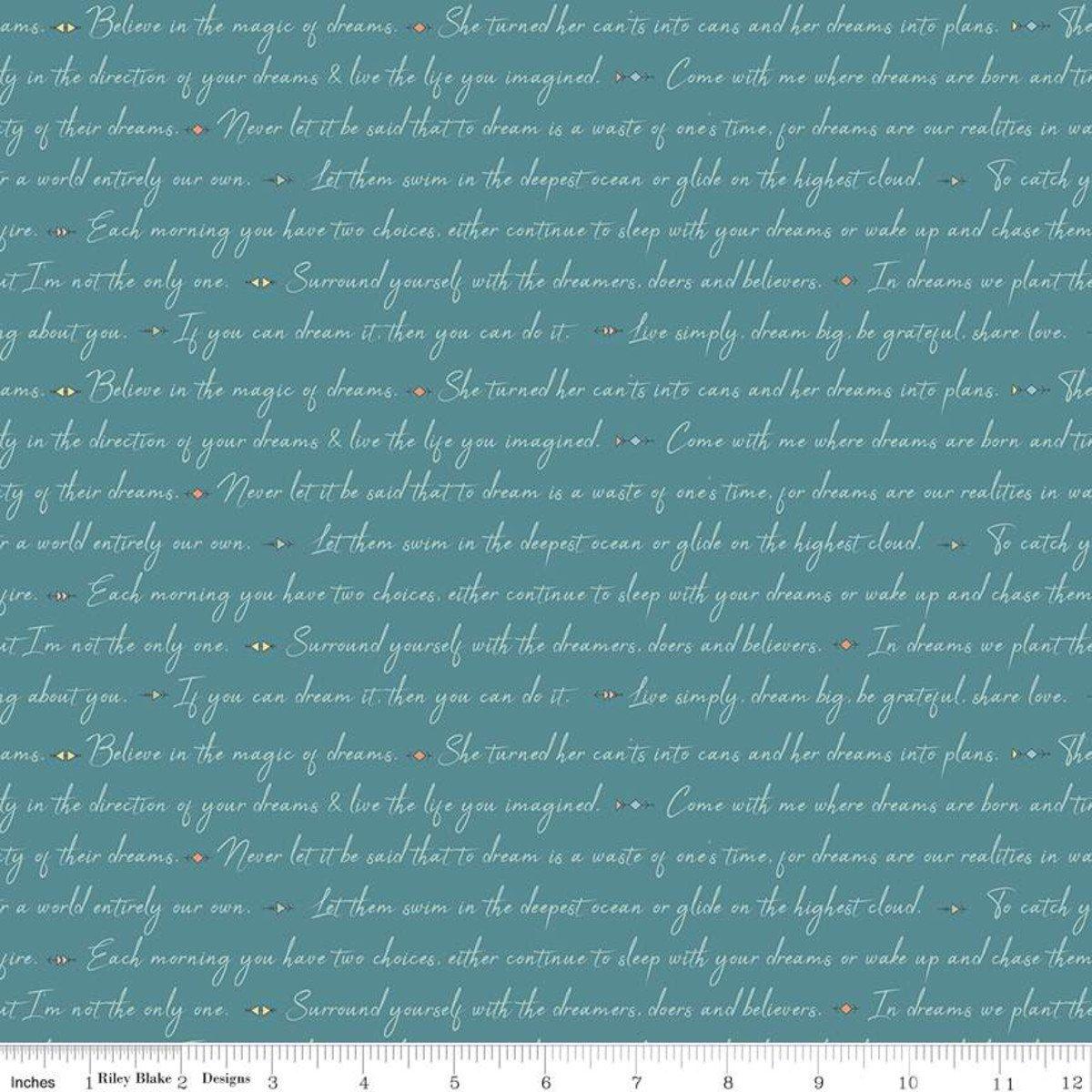 Dream Weaver Text Teal