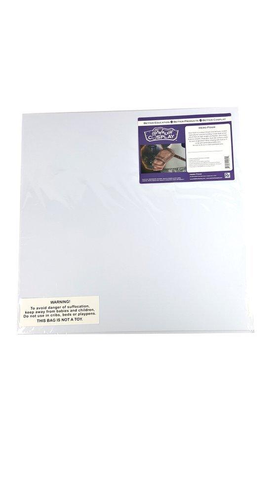 Hero Foam White- Eva 2mm - 3 Sheets Per Pkg