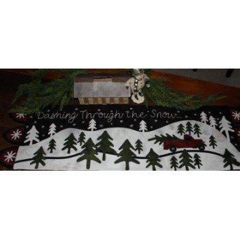 Dashing Through The Snow Table Runner #1480527116