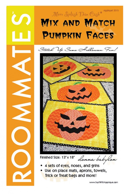 Mix and Match Pumpkin Faces Place Mats