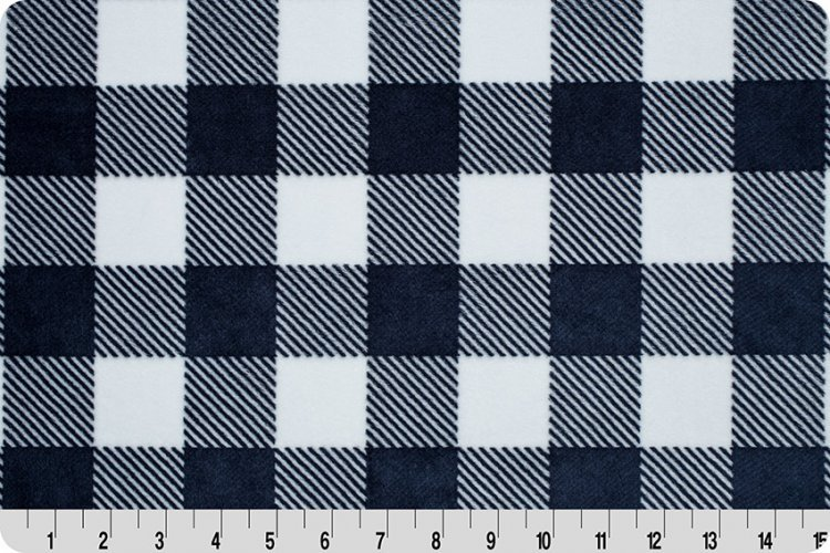Buffalo Check Cuddle Navy/Snow 58/60 Wide DR179460