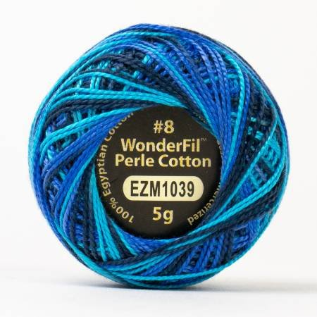Eleganza 8wt 5-Gram Variegated Perle Cotton Ball 42yd Space Station