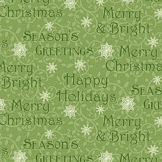 Winter Greetings Words Green 4217-66