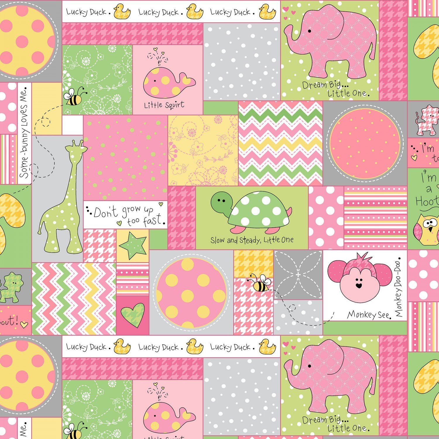 Little One Flannel Pink Allover Patch  F8221-ZP