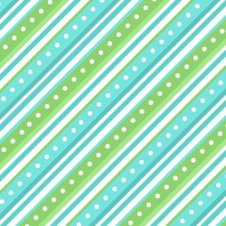 Lil' Sprout Flannel Too Diagonal Stripe Green/Teal F8224GQ