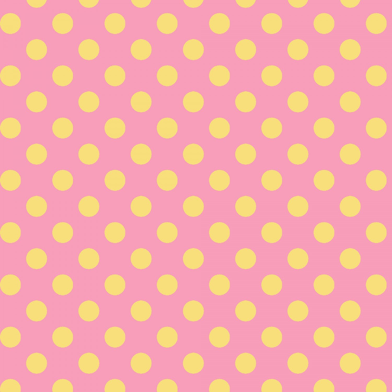 Little One Flannel Pink-yellow Dots  F8227-PS