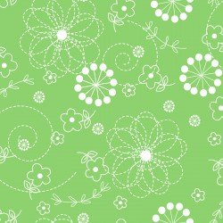 Lil' Sprout Flannel Too Doodles Green F8229G