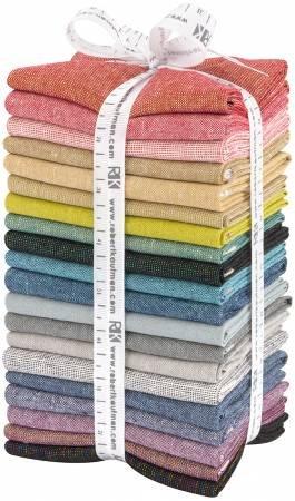 Essex Yarn Dyed Fat Quarter Metallic Bright 20pcs/bundle