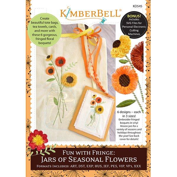 Fun With Fringe Jars of Seasonal Flowers KD545