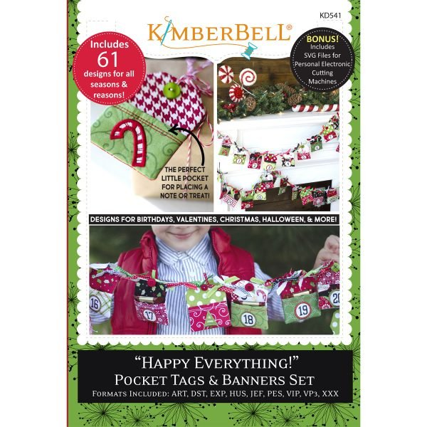 Happy Everything Pocket Tags & Banners KD541