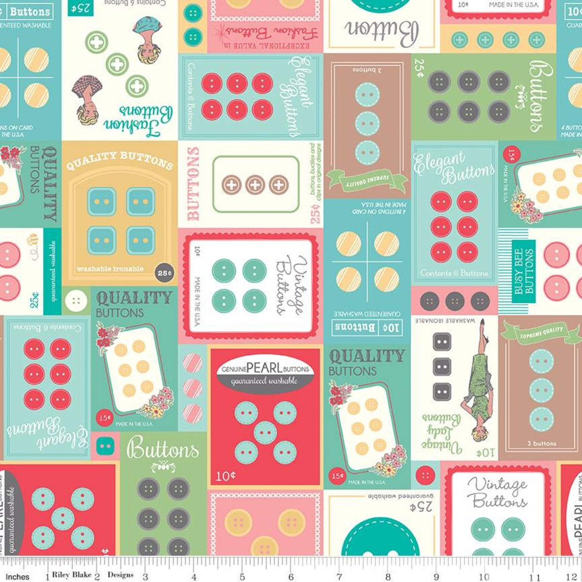 My Happy Place Home Decor Button Cards Multi