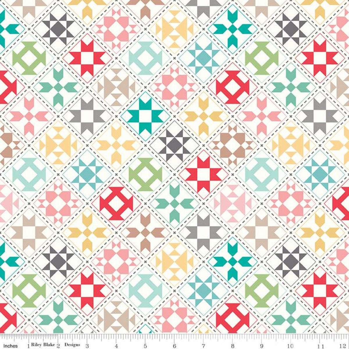 My Happy Place Home D?cor Quilt Blocks Cream