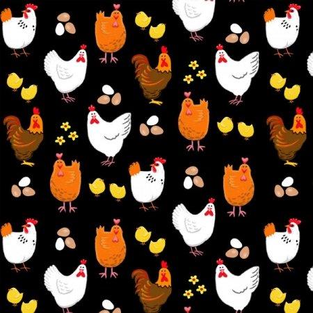 Farm Life Hens & Eggs black 118899