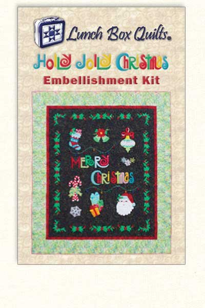 HOLLY JOLLY CHRISTMAS EMBELLISHMENT KIT