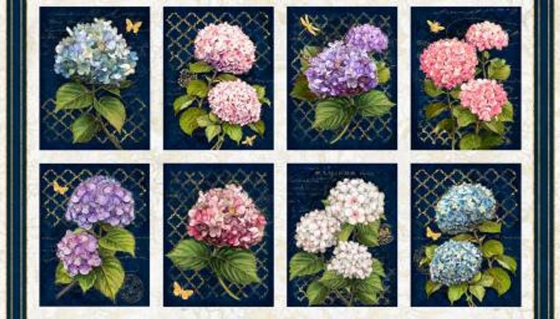 Hydrangea Dreams Craft Panel Multi 96435-143