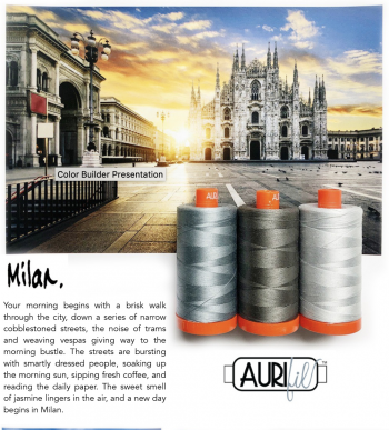 Aurifil Color Builder- Milan Grey