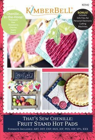 That's Sew Chenille Fruit Stand Hot Pads KD542