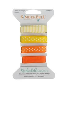 Kimberbellishments Ribbons Yellow & Orange Ribbon Set KDKB102
