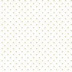 Beautiful Basics Classic Dots White with Tan  609WT