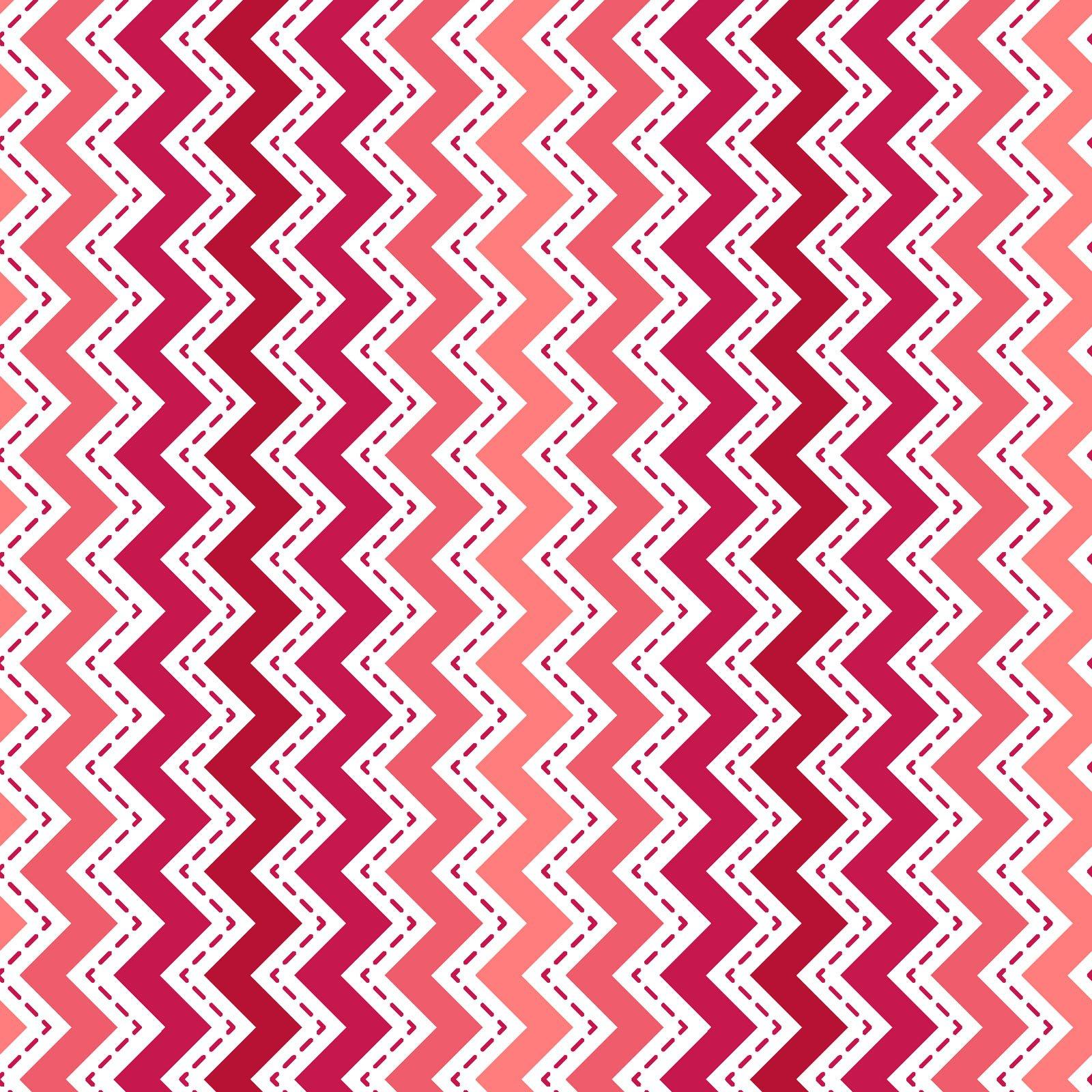 KimberBell Basics Red/Pink Zig Zag 8202M-RP