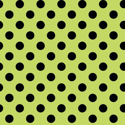 KimberBell Basics Green/Black Dots 8216GJ