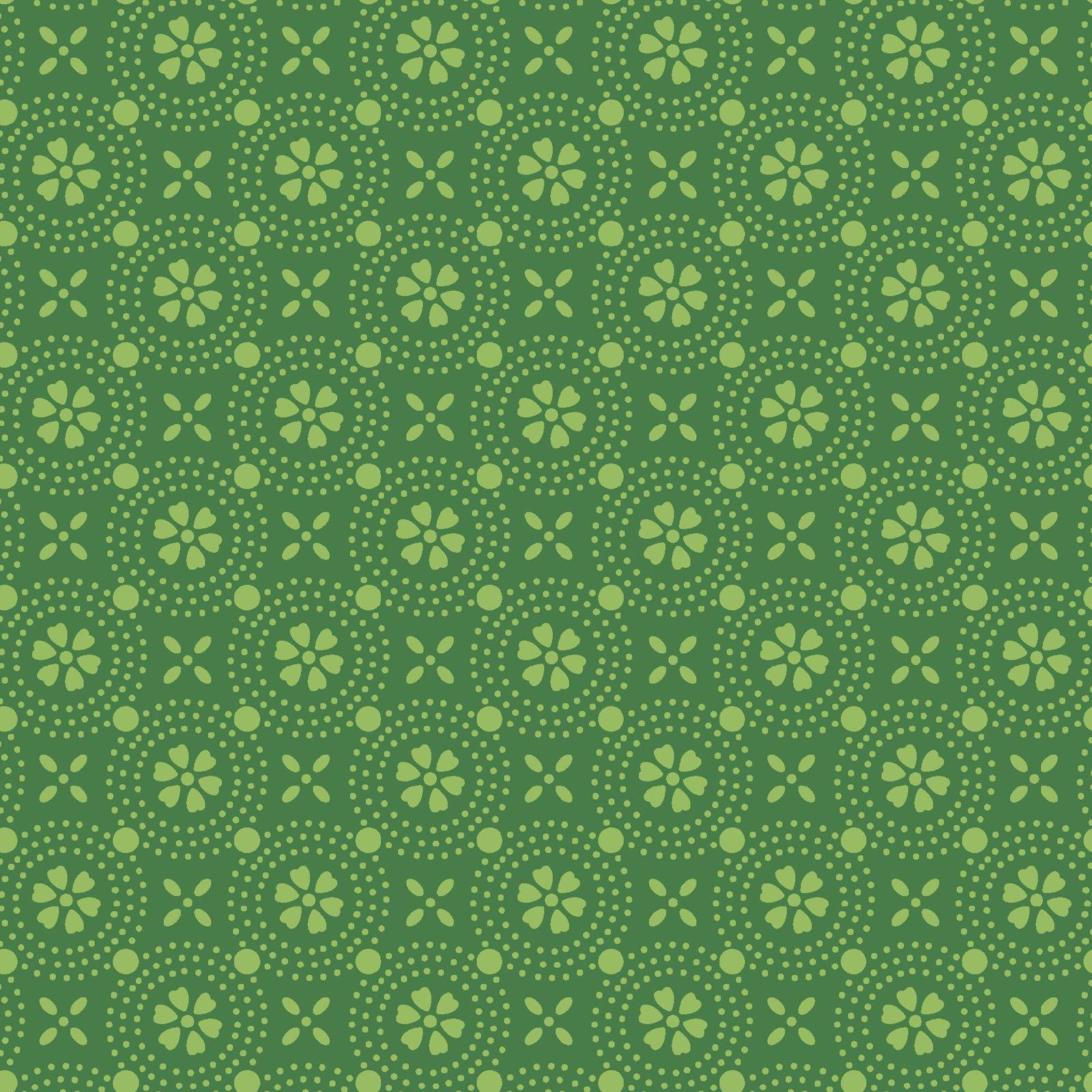 KimberBell Basics Green Dotted Circles 8241M-GG