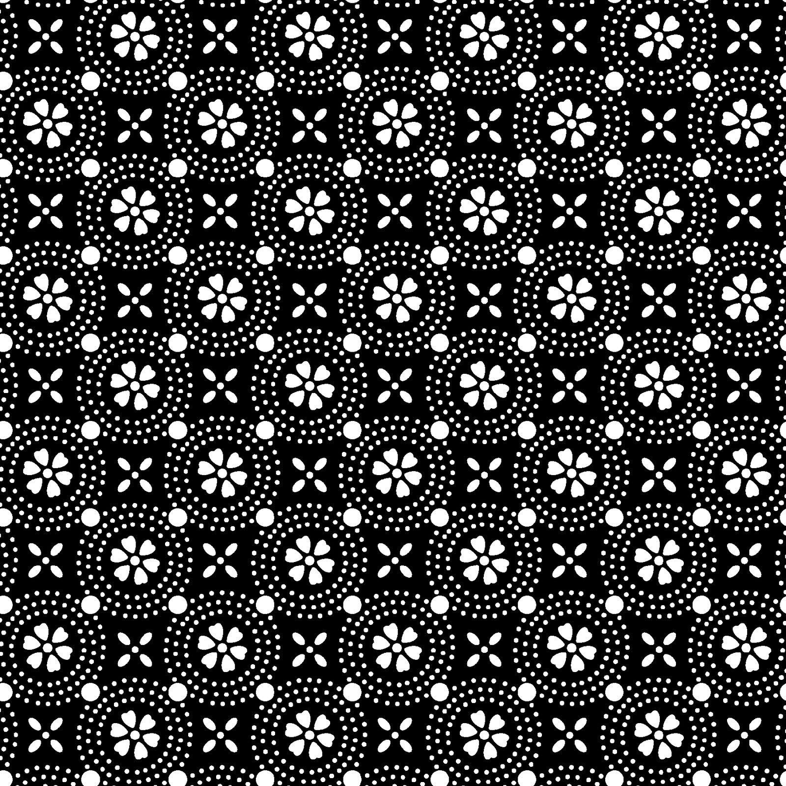 KimberBell Basics Black Dotted Circles 8241M-J