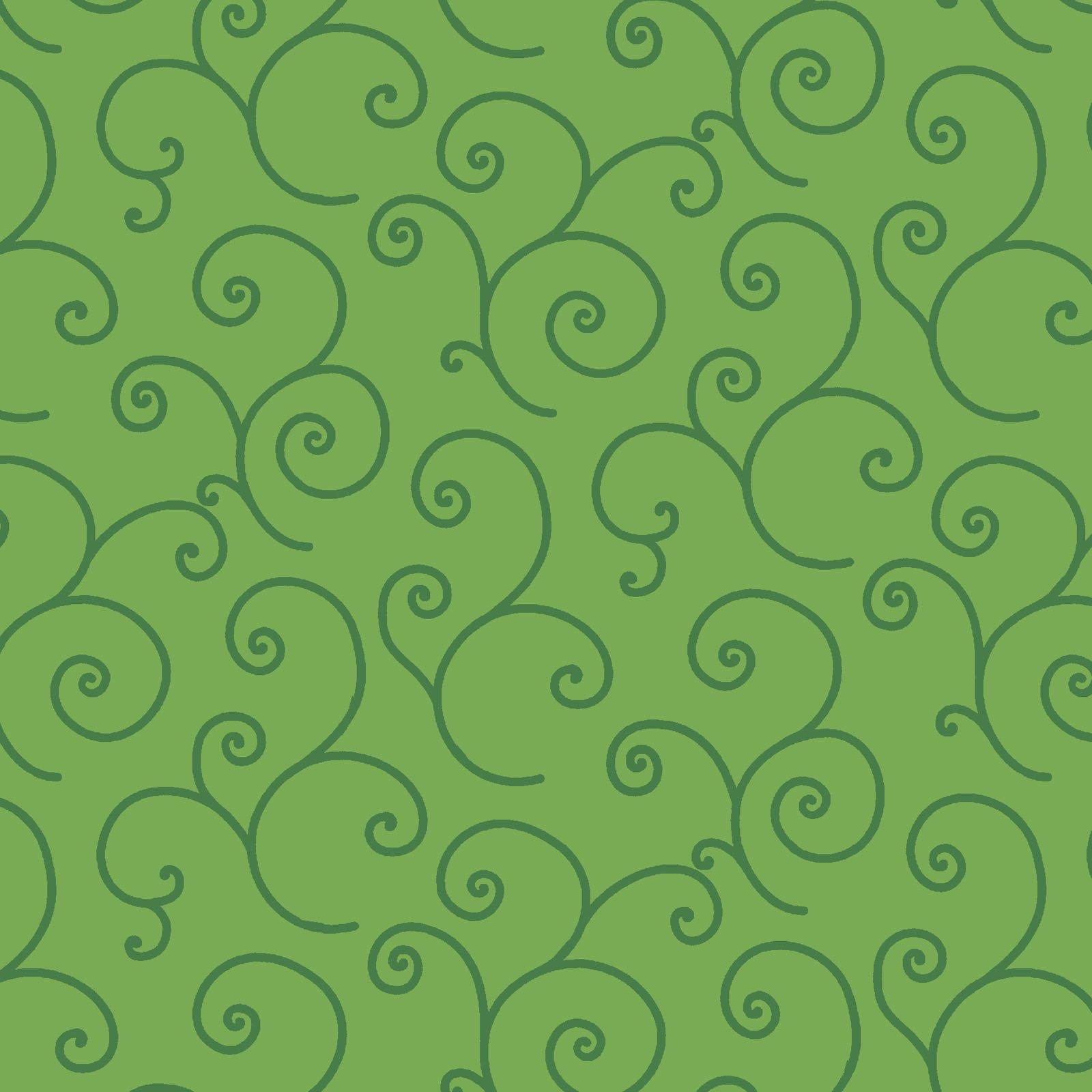 KimberBell Basics Green Scroll  8243M-GG