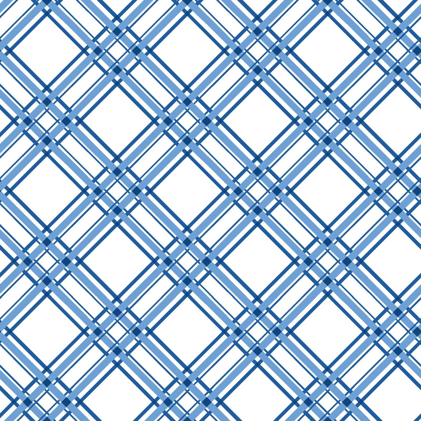 KimberBell Basics Blue Diagonal Plaid 8244M-B