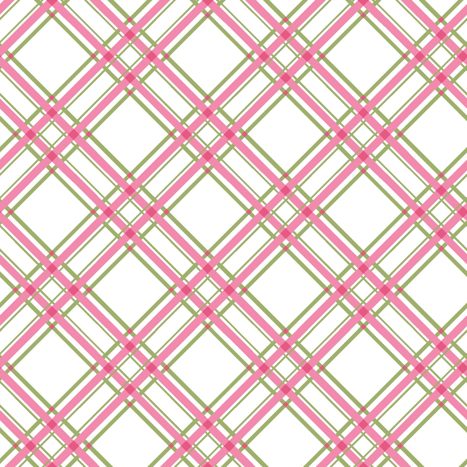 KimberBell Basics Pink/Grey Diagonal Plaid 8244M-PG