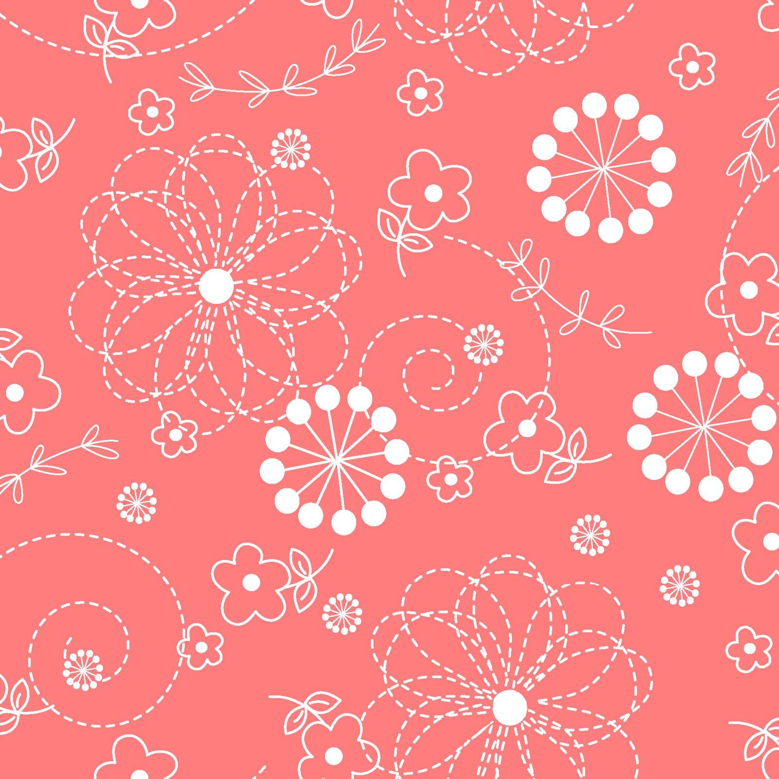 KimberBell Basics Peachy Pink Doodles 8246M-CP