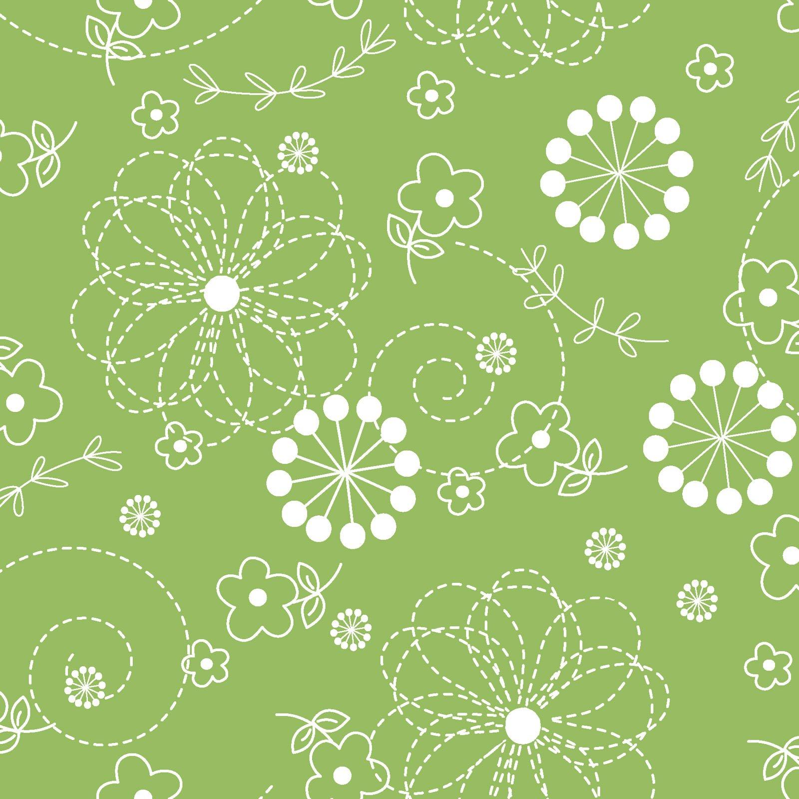 KimberBell Basics Green Doodles 8246M-G