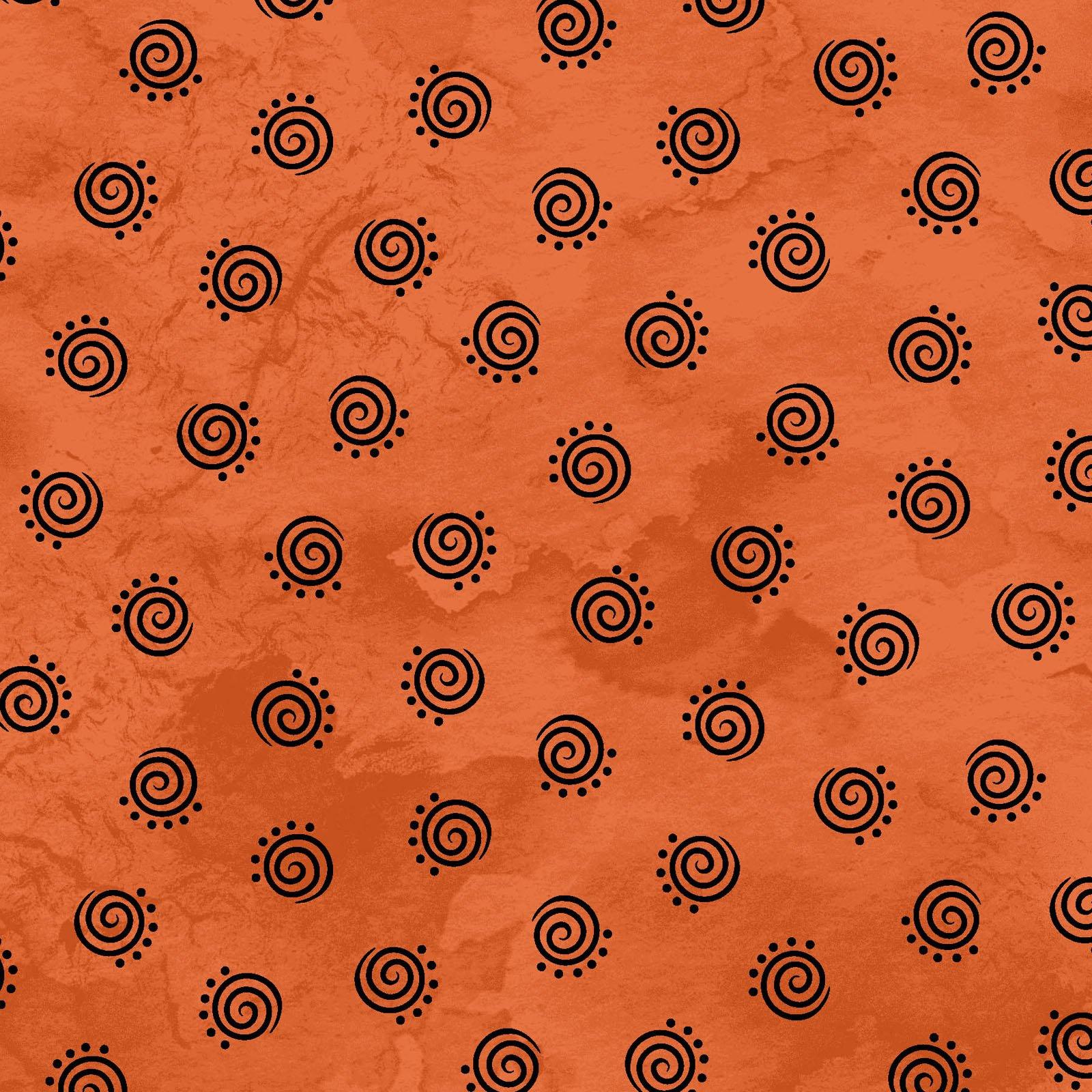 Halloweenie Geo Swirls MAS8617-O