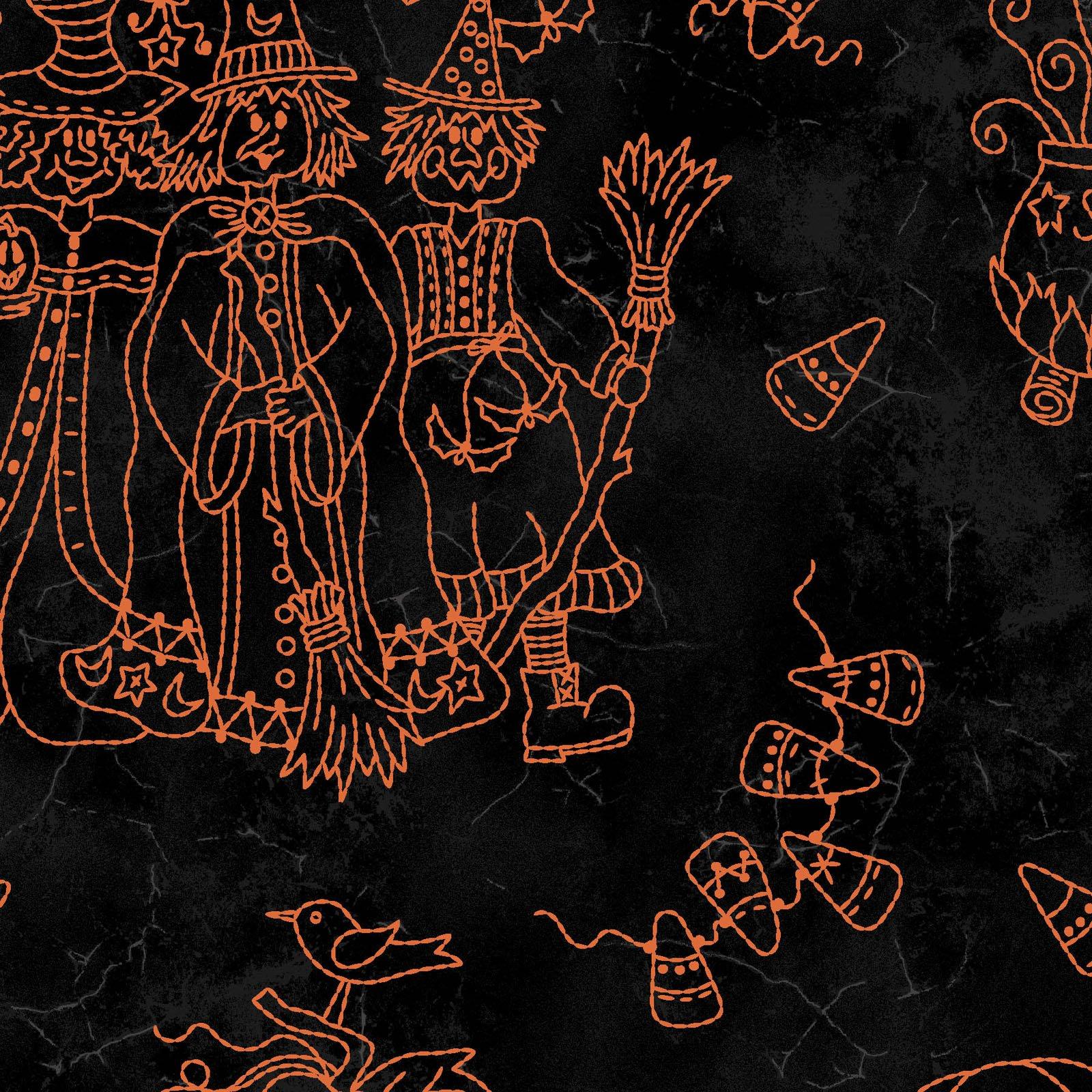 Halloweenie Halloweenie Toile MAS8632-J