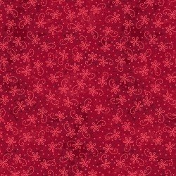 The Little Things Lazy Daisy Twirl Red 9102R
