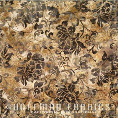 Bali Batik Scrolly Floral Taupe N2891-80