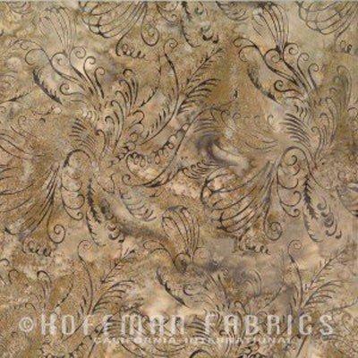 Bali Batik Scrolly Bird Taupe N2904-80
