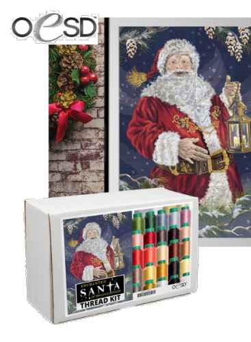 OESD Enchanted Santa Tiling Scene Thread Kit