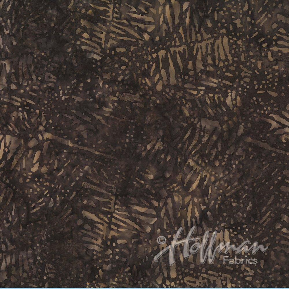 Bali Batik Textured Leaf Chestnut P2979-51-Chestnut
