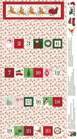 Merry and Bright Advent Panel 24 P8397-CREAM