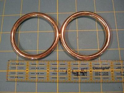 Metal Ring 2.5 Set of 2 Silver Metal