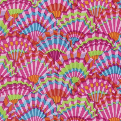 Kaffe Fassett Paper Fans Pink PWGP143.PINKX