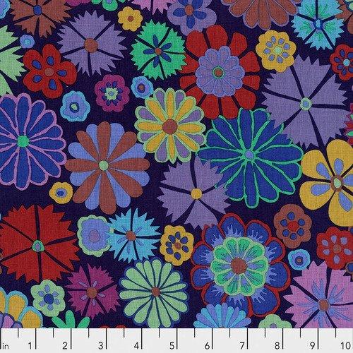 Kaffe Fassett Folk Flower Purple PWKF007.PURPL