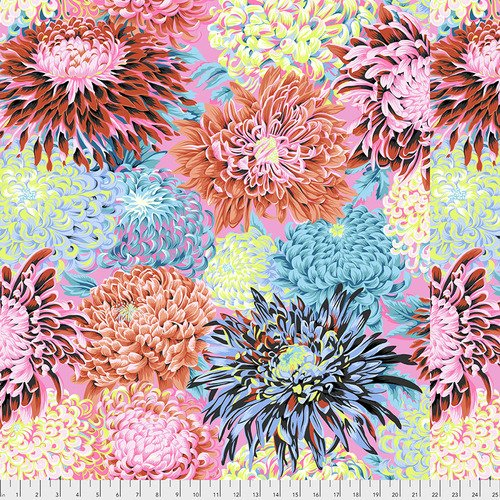 Kaffe Fassett Fall 2018 Japanese Chrysanthemum Contrast PWPJ041.CONTR