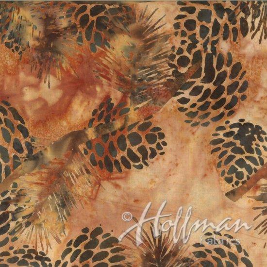 Bali Batiks Pine Cones Parchment Q2132-134